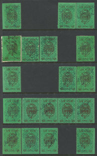 0004SL1709 - SL4 - Used Partially Reconstructed Sheet - Deveney Stamps Ltd. Canadian Stamps