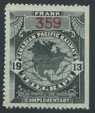 0026CP1907 - TCP26b - Mint, Thin Paper