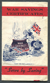 0001WS2001 - Disney War Savings Certificate Pamphlet - Used