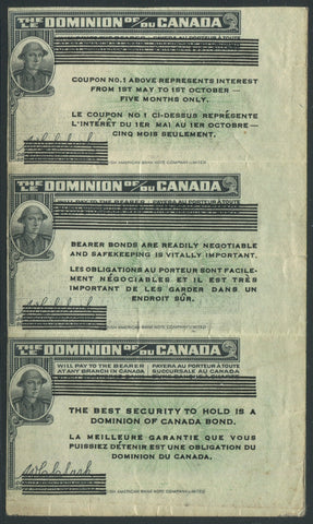 0001WS2001 - WWI Victory Loan Bond Coupons