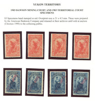 0000YL1708 - Yukon Law Specimen Set - Deveney Stamps Ltd. Canadian Stamps