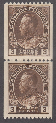 0134CA1803 - Canada #134 Mint Vertical Pair