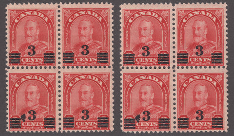 0191CA1801 - Canada #191 - Mint Set '2 Blocks of 4'