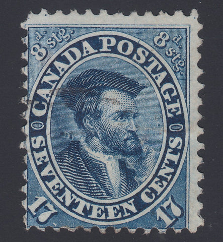 0019CA1808 - Canada #19iii - Used, 'Burr Over Shoulder' Variety