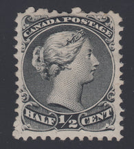 0021CA1808 - Canada #21v - Mint 'H Spur' Variety