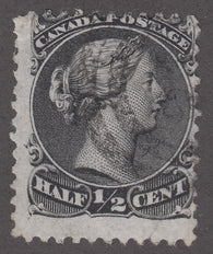 0021CA1808 - Canada #21v - Used 'H Spur' Variety
