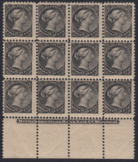 0034CA1801 - Canada #34 Mint Plate Block of 12