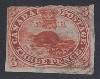 0004CA1708 - Canada #4d, x - Used Stitch Watermark
