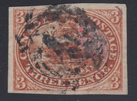 0004CA1708 - Canada #4x - Used Stitch Watermark