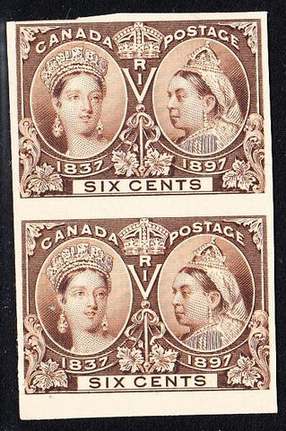 0055CA1708 - Canada #55P & 55Pi, Mint Plate Proof Pair - Major Re-entry