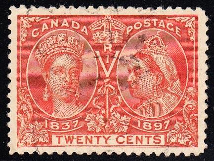 0059CA1708 - Canada #59ii - Used, W-E Variety & Vertical Stitch Watermark, UNIQUE