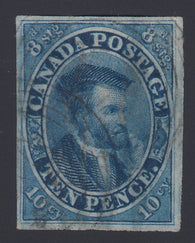 0007CA1808 - Canada #7iv - Used Strong Re-Entry