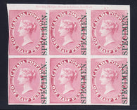 0008CA1812 - Canada #8Pi - Mint Plate Proof Block of 6, MAJOR RE-ENTRY