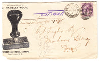 0076NB1903 - #76 on 'J. HAMBLET WOOD' Advertising Cover