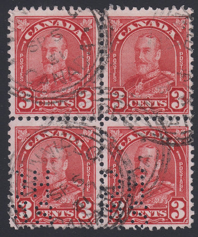 0211CA1804 - Canada OA167 'A Z' - Used Block of 4