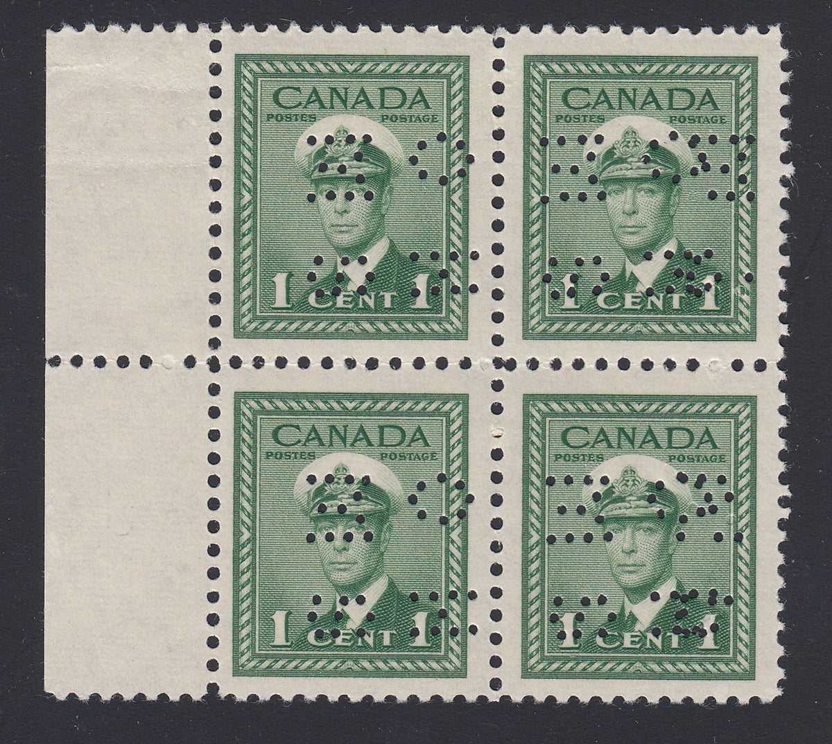 0310CA1804 - Canada O249 'F & FX' Mint Block of 4