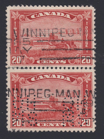 0219CA1804 - Canada OA175s 'A Z' - Used Vertical Pair