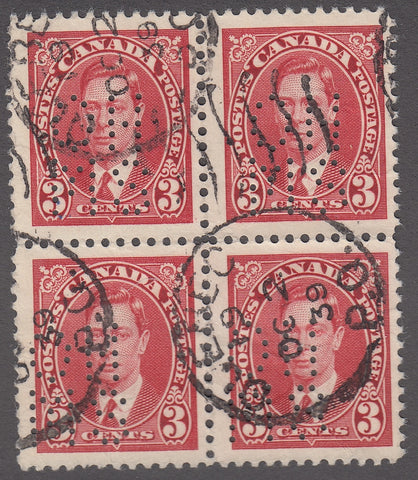 0260CA1804 - Canada OA233s 'A' - Used Block of 4