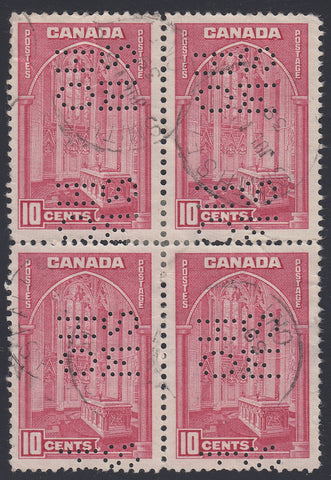0266CA1804 - Canada OA241as 'E' Used Block of 4