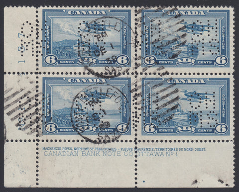 0279CA1804 - Canada OAC6s 'A' - Used Plate Block of 4
