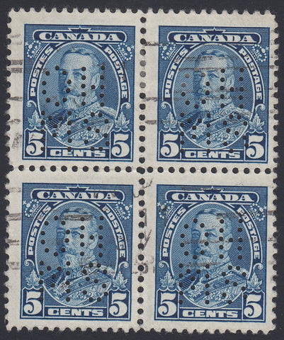 0251CA1804 - Canada OA221s 'A' - Used Block of 4