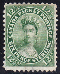 0018CA1810 - Canada #18iv - Used Major Re-Entry