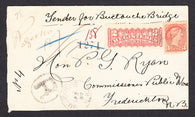 0037NB1709 - #37 & F1 on 'Buctouche', N.B. Registered Cover