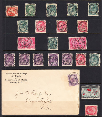0001CA1908 - Canadian Street Cancel Collection, MORRIS & GOTTINGEN (22)