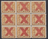0017FT1804 - FWT8k - Mint - Block of 9