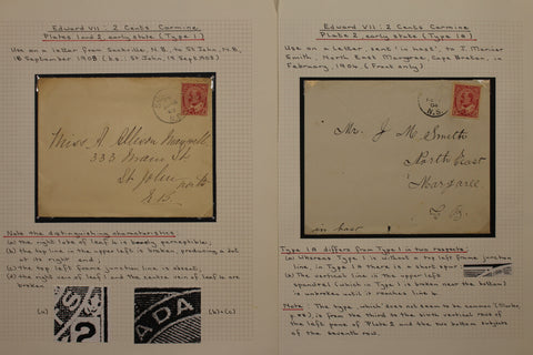 0090CA1710 - #90,  2c carmine Edward Study Lot, on Covers & Cards (29)