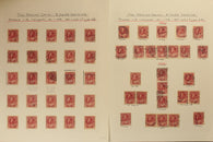 0109CA1710 - #109, 3c carmine Marler study lot, stamps & covers (180+)