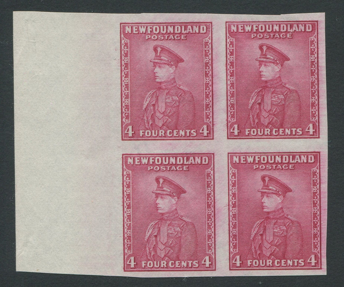 0189NF1708 - Newfoundland #189ai - Mint Imperf Block of 4