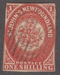 0009NF1708 - Newfoundland #9 - Used - Deveney Stamps Ltd. Canadian Stamps
