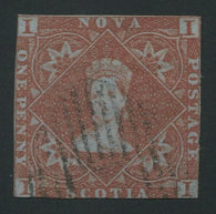 0001NS1707 - Nova Scotia #1 - Used - Deveney Stamps Ltd. Canadian Stamps