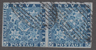 0003NS1709 - Nova Scotia #3 - Used Pair - Deveney Stamps Ltd. Canadian Stamps