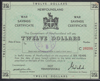 0001WS1808 - Newfoundland War Savings Certificate - Used