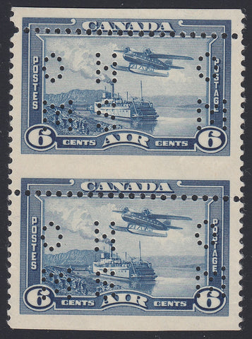 0334CA1806 - Canada OC6 'A' - Mint Vertical Pair