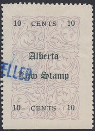 0001AL1802 - AL1 - Used Unlisted Double Overprint