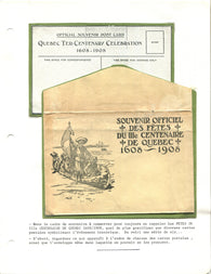 0001QP1910 - Quebec Tercentenary Celebration Postcard Set