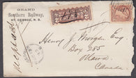 0037NB1807 - #37 & F1 on 'St George', N.B. Registered Cover