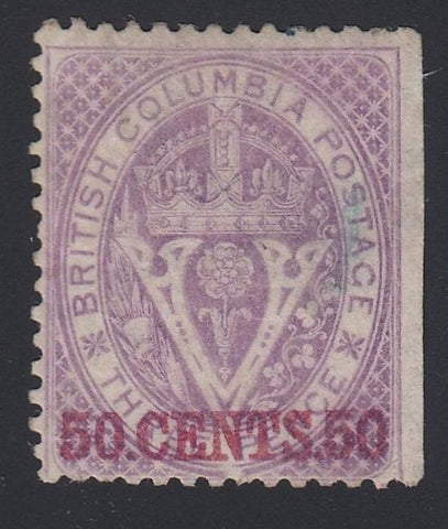 0012BC1808 - British Columbia #12 - Mint