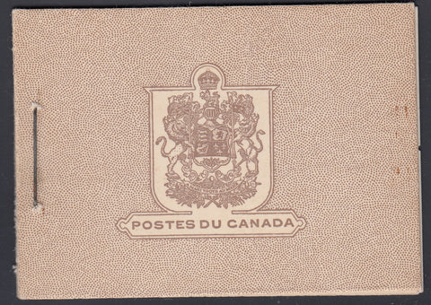 0196CA1805 - Canada BK25 - Complete FRENCH Booklet
