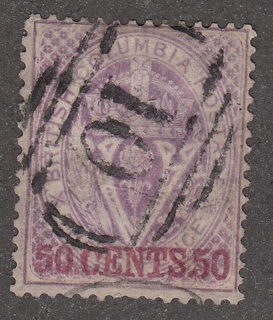 0012BC1708 - British Columbia #12 - Used, Williams Creek - Deveney Stamps Ltd. Canadian Stamps