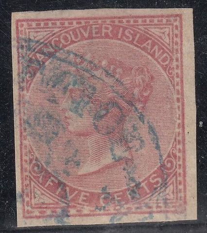 0003BC1708 - British Columbia #3 - Used - Deveney Stamps Ltd. Canadian Stamps