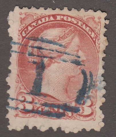 0101BC1708 - British Columbia Numeral Cancel '1' on SQ