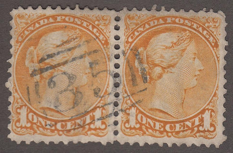 0135BC1708 - British Columbia Numeral Cancel '35' on SQ Pair