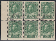 0104CA1708 - Canada #104a - Used Booklet Pane