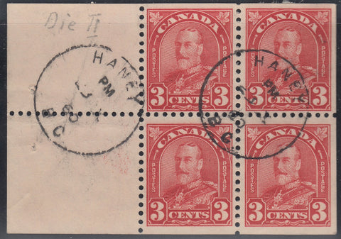 0167CA1708 - Canada #167a - Used Booklet Pane