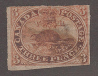 0004CA1708 - Canada #4vii - Used Major Re-Entry - Deveney Stamps Ltd. Canadian Stamps