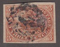 0004CA1708 - Canada #4x - Used Stitch Watermark - Deveney Stamps Ltd. Canadian Stamps
